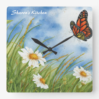 Monarch Butterfly Kitchen Clock