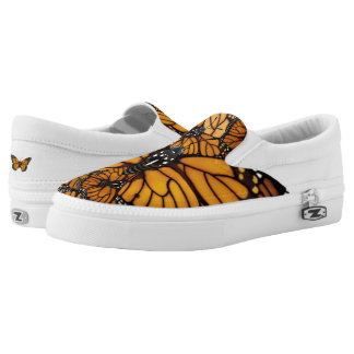 Monarch Butterfly Madness Slip On Shoes