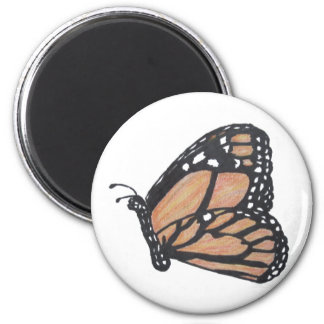 Monarch Butterfly 6 Cm Round Magnet