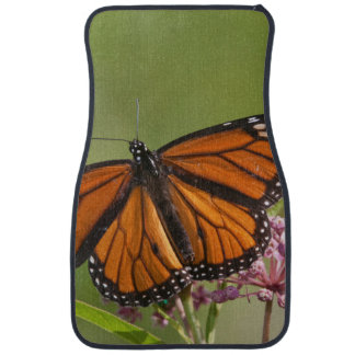 Monarch Butterfly male on Swamp Milkweed Car Mat