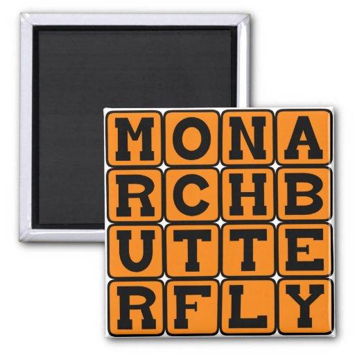 Monarch Butterfly, Milkweed Butterfly Fridge Magnet