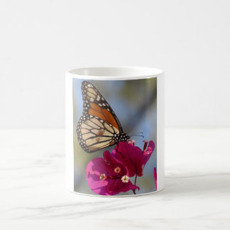 Monarch butterfly on bougainvillea blossom coffee mug