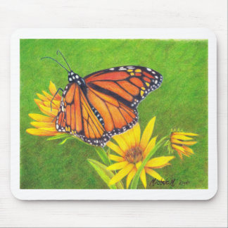 monarch butterfly on flowers mouse pads