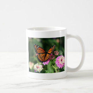 Monarch Butterfly on Lantana Flower Coffee Mug