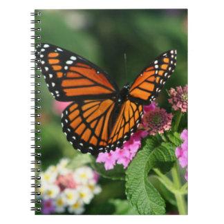 Monarch Butterfly on Lantana Flowers.Notebook Notebook