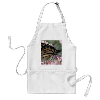 Monarch Butterfly on Pink Adult Apron