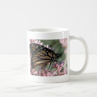 Monarch Butterfly on Pink Coffee Mugs