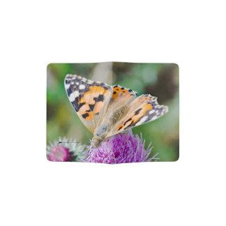 Monarch Butterfly on Purple Aster Flower Passport Holder