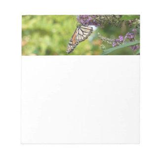 Monarch Butterfly on Purple Butterfly Bush Notepad