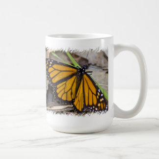 Monarch Butterfly on White Coffee Mug