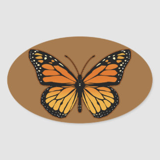 Monarch Butterfly Oval Sticker