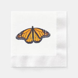 Monarch butterfly paper napkin