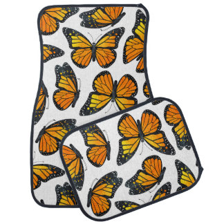 Monarch Butterfly Pattern Car Mat