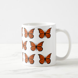 Monarch Butterfly Pattern on Classic Mug