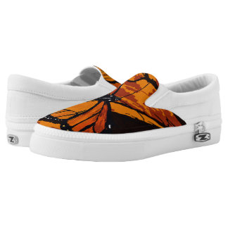 Monarch Butterfly Pattern Slip On Shoes