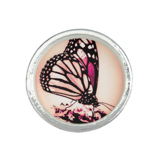 Monarch Butterfly, Pink