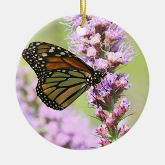 Monarch butterfly profile christmas ornament