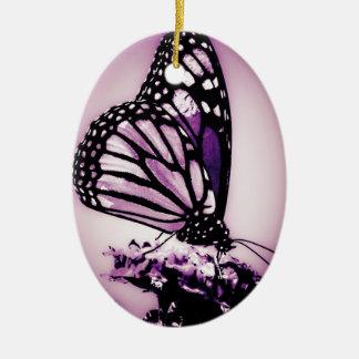 Monarch Butterfly, Purple - Christmas Ornament