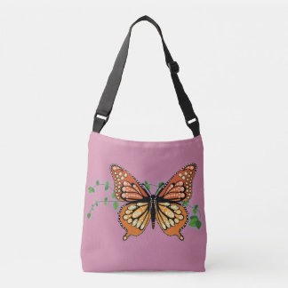 Monarch Butterfly Rhinestone Design Tote Purse Bag