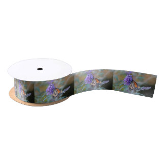 Monarch butterfly satin ribbon