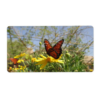 Monarch Butterfly Shipping Label