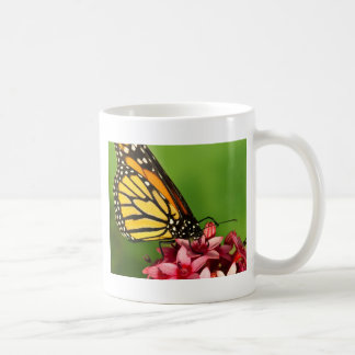 Monarch Butterfly  Side View Vibrant Nature Photo Basic White Mug