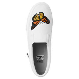 Monarch Butterfly Slip On Canvas Shoes