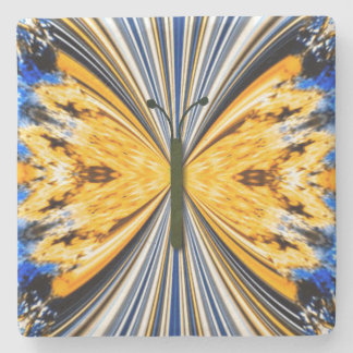 monarch butterfly stone coaster