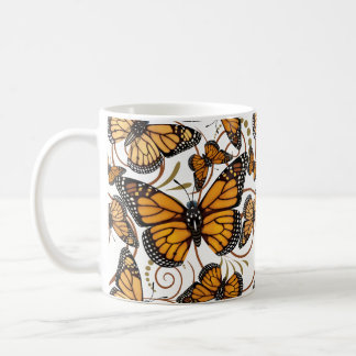 Monarch Butterfly Swirl Coffee Mug
