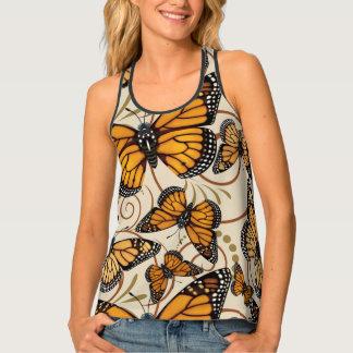 Monarch Butterfly Swirl Tank Top