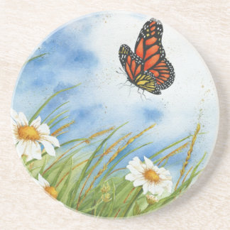 Monarch Butterfly & Wild Daisies - Coaster