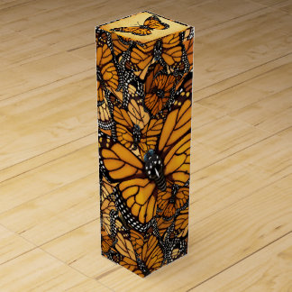Monarch Butterfly Wine Gift Box
