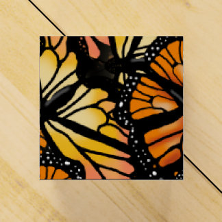 MONARCH BUTTERFLY WING PATTERN GIFT FAVOUR BOX