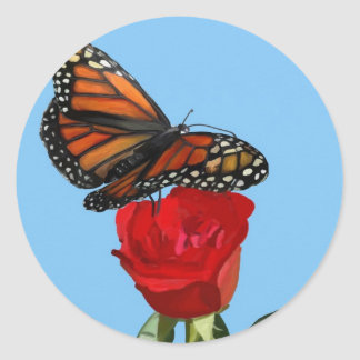Monarch Classic Round Sticker