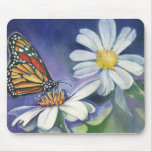 Monarch & Daisies Mouse Pads