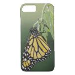 Monarch, Danaus plexippus, adult newly emerged iPhone 7 Case