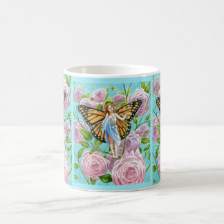 Monarch Fairy amongst the Roses Coffee Mug