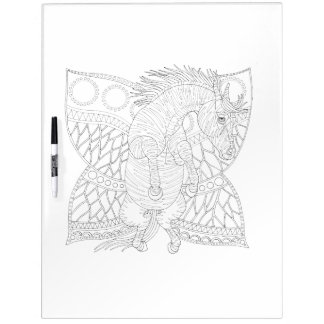 Monarch Horsefly Adult Coloring Dry Erase Board