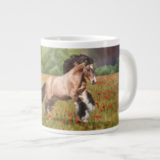Monarch in the Poppies Large Coffee Mug