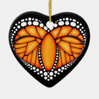 Monarch Love Christmas Ornament