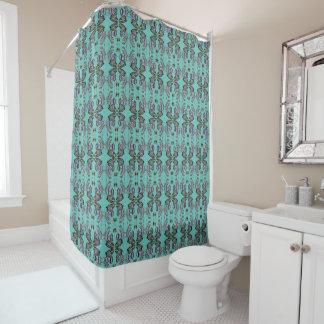 Monarch Mandala Patterned Shower Curtain