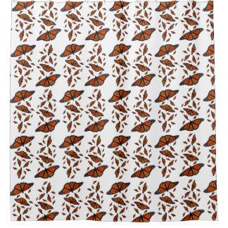 Monarch Medley Shower Curtain (choose colour)
