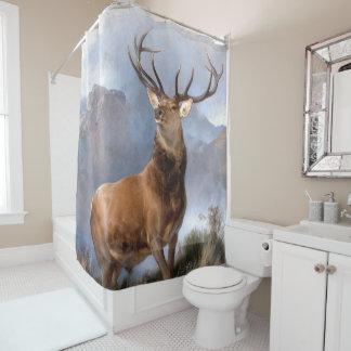 Monarch of Glen Elk Wildlife Animal Shower Curtain