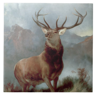 Monarch of the Glen, 1851 Large Square Tile