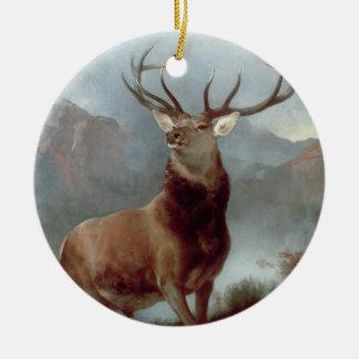 Monarch of the Glen, 1851 Round Ceramic Decoration