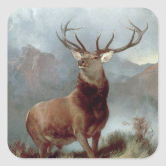 Monarch of the Glen, 1851 Square Sticker