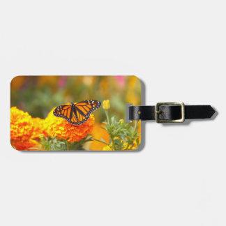 Monarch on a Marigold Luggage Tag