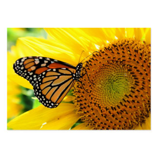 Monarch on a Sunflower Profile card Business Card Templates