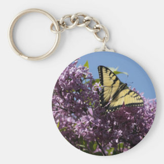 Monarch on Butterfly Bush Basic Round Button Key Ring