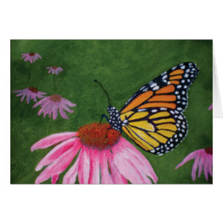 Monarch on Coneflower Card